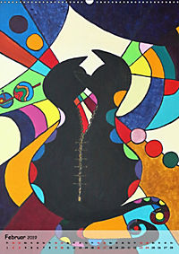 Kätz, Petra Kolossa, Pop-Art-Kunstdrucke (Wandkalender 2019 DIN A2 hoch) - Produktdetailbild 2