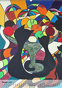 Kätz, Petra Kolossa, Pop-Art-Kunstdrucke (Wandkalender 2019 DIN A2 hoch) - Produktdetailbild 1