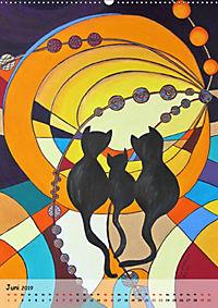 Kätz, Petra Kolossa, Pop-Art-Kunstdrucke (Wandkalender 2019 DIN A2 hoch) - Produktdetailbild 6