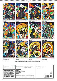 Kätz, Petra Kolossa, Pop-Art-Kunstdrucke (Wandkalender 2019 DIN A2 hoch) - Produktdetailbild 13