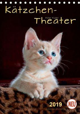 Kätzchen - Theater (Tischkalender 2019 DIN A5 hoch), Peter Roder