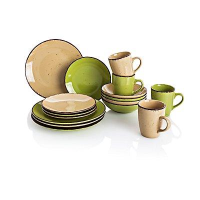 kaffee und tafelservice puro gr n 16tlg. Black Bedroom Furniture Sets. Home Design Ideas