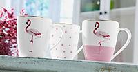 """Kaffeebecher """"Flamingo"""", 3er-Set - Produktdetailbild 1"""
