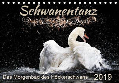 Kalender - Das Morgenbad des Höckerschwans (Tischkalender 2019 DIN A5 quer), Sylvio Banker