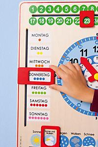 Kalenderuhr aus Holz - Produktdetailbild 4