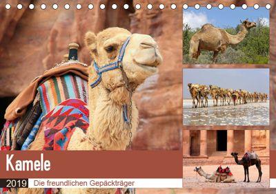 Kamele - Die freundlichen Gepäckträger (Tischkalender 2019 DIN A5 quer), Michael Herzog