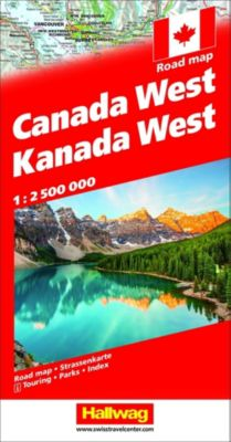 Kanada / Canada Strassenkarte West 1:2.5 Mio -  pdf epub