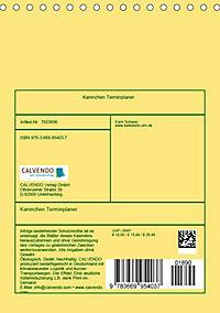 Kaninchen Terminplaner (Tischkalender 2019 DIN A5 hoch) - Produktdetailbild 13