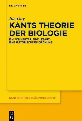 Kants Theorie der Biologie, Ina Goy