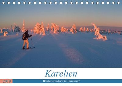 Karelien - Winterwandern in Finnland (Tischkalender 2019 DIN A5 quer), Rolf Dietz