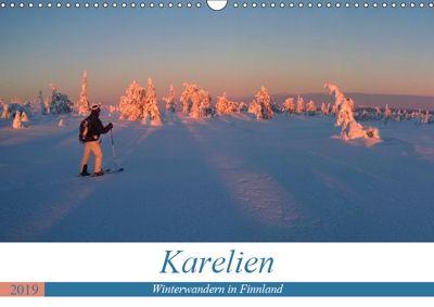 Karelien - Winterwandern in Finnland (Wandkalender 2019 DIN A3 quer), Rolf Dietz