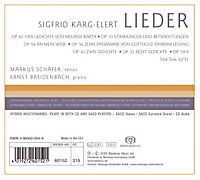 Karg-Elert: Lieder - Produktdetailbild 1