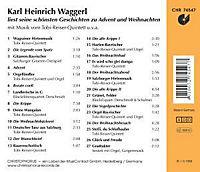 Karl Heinrich Waggerl liest seine schönsten Geschichten zu Advent und Weihnachten, 1 Audio-CD - Produktdetailbild 1