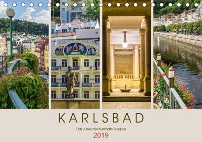KARLSBAD Das Juwel der Kurstädte Europas (Tischkalender 2019 DIN A5 quer), Melanie Viola