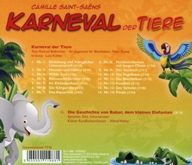 karneval der tiere cd von camille saintsaëns bei weltbildde