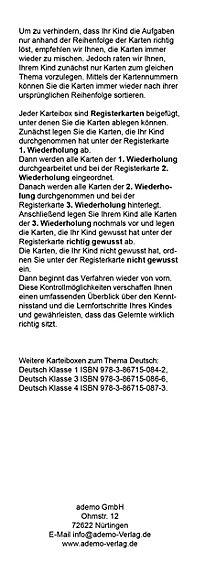 Karteibox Deutsch Klasse 2 - Produktdetailbild 2