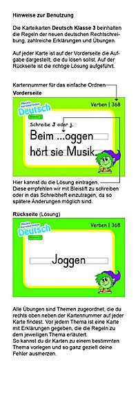 Karteibox Deutsch Klasse 3 - Produktdetailbild 2