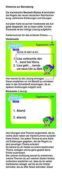 Karteibox Deutsch Klasse 4 - Produktdetailbild 1