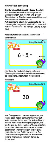 Karteibox Mathe Klasse 2 - Produktdetailbild 3