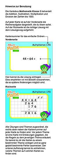 Karteibox Mathe Klasse 3 - Produktdetailbild 3