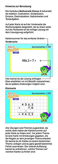 Karteibox Mathe Klasse 4 - Produktdetailbild 2