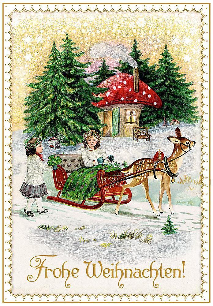 Bilder Weihnachten Nostalgisch.Karten Set Nostalgische Weihnachtspost Bestellen Weltbild De
