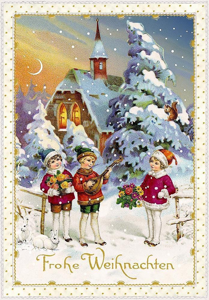 Nostalgische Weihnachtsmotive.Karten Set Nostalgische Weihnachtspost Bestellen Weltbild At