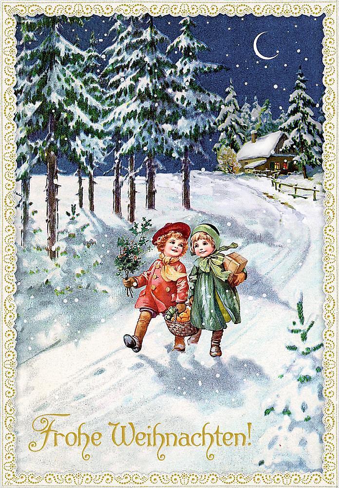 Weihnachten Nostalgisch.Karten Set Nostalgische Weihnachtspost Bestellen Weltbild De