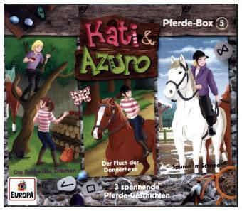 Kati & Azuro - Pferde-Box, 3 Audio-CDs, Kati & Azuro