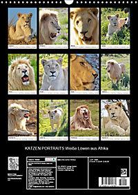 KATZEN PORTRAITS Weiße Löwen aus Afrika (Wandkalender 2019 DIN A3 hoch) - Produktdetailbild 13