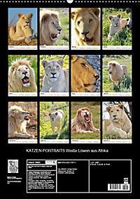 KATZEN PORTRAITS Weisse Löwen aus Afrika (Wandkalender 2019 DIN A2 hoch) - Produktdetailbild 13