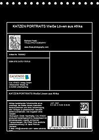 KATZEN PORTRAITS Weiße Löwen aus Afrika (Tischkalender 2019 DIN A5 hoch) - Produktdetailbild 13