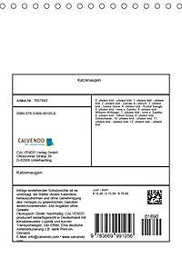 Katzenaugen (Tischkalender 2019 DIN A5 hoch) - Produktdetailbild 13