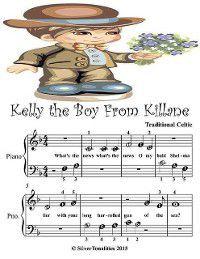 Kelly the Boy from Killane - Beginner Tots Piano Sheet Music, Silver Tonalities