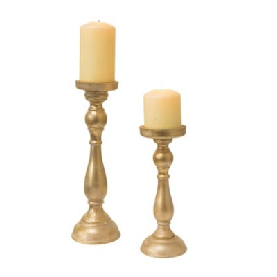 Kerzenhalter-Set  Golden Shine, 2-tlg.