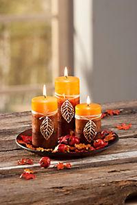 """Kerzenset """"Herbstlaub"""" - Produktdetailbild 1"""