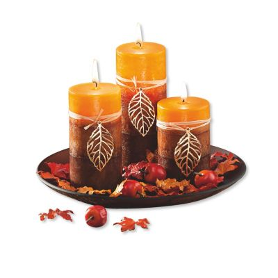 Kerzenset Herbstlaub