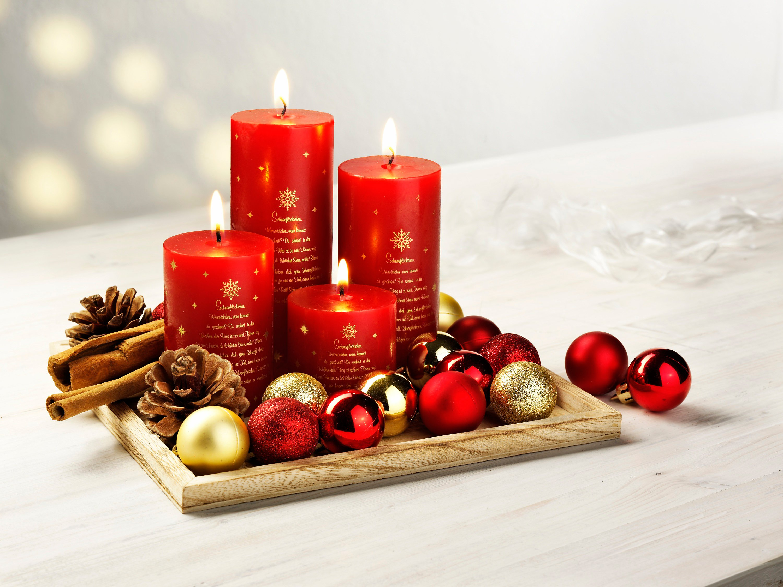 Kerzen Weihnachten.Kerzenset Weihnachten Mit Deko Jetzt Bei Weltbild Ch Bestellen