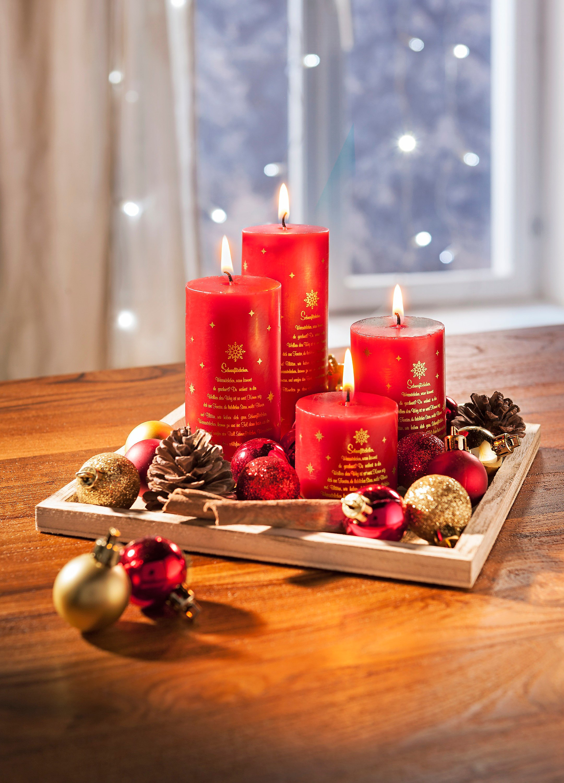 Deko Zu Weihnachten.Kerzenset Weihnachten Mit Deko Jetzt Bei Weltbild De Bestellen