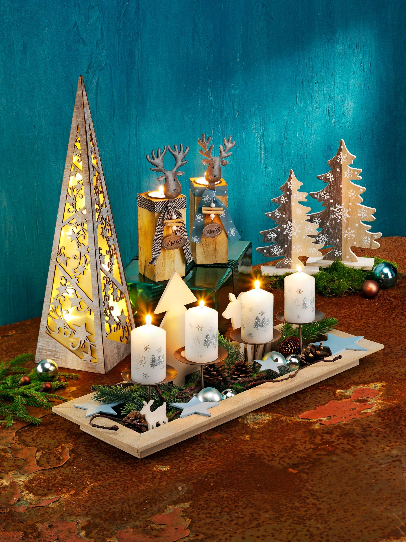Kerzentablett Advent Mit Deko Jetzt Bei Weltbild Ch Bestellen