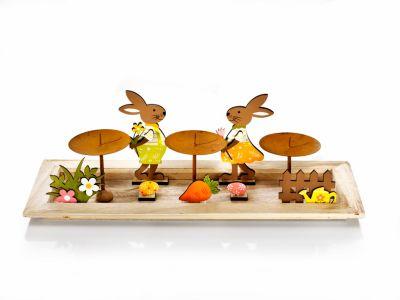 Kerzenteller Ostern