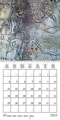 Khmer Temples (Wall Calendar 2019 300 × 300 mm Square) - Produktdetailbild 3