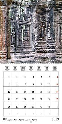 Khmer Temples (Wall Calendar 2019 300 × 300 mm Square) - Produktdetailbild 8