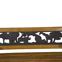 Kinder Gartenbank im nostalgischen Stil (Farbe: braun, schwarz, Größe: 83 x 40 x 49 cm (LxBxH)) - Produktdetailbild 1