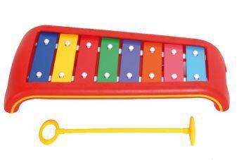 Kinder-Glockenspiel (8 Klangplatten C bis C, diatonisch)