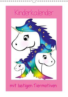 Kinderbilder mit lustigen Tiermotiven (Wandkalender 2019 DIN A3 hoch), Digital-Art