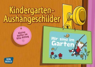 Kindergarten-Aushängeschilder, 14 farbige Aushängeschilder