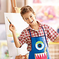 "Kinderschürze ""Monster"" zum Malen und Basteln - Produktdetailbild 1"