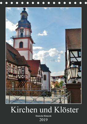 Kirchen und Klöster deutsche Kleinode (Tischkalender 2019 DIN A5 hoch), Andrea Janke