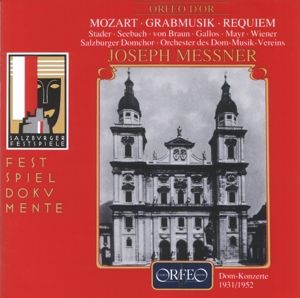 Kirchensonate Kv 67/Requiem Kv 626/Grabmusik Kv 42, Messner, Orch.Des Dom-Musik-V.